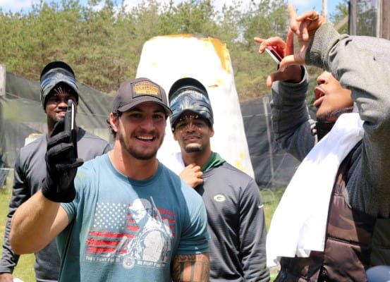 bachelor paintball party