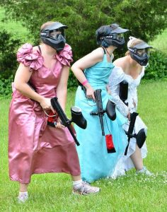 bachelorette paintball party